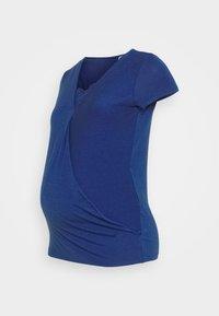 MAMALICIOUS - MLSHANA TESS CAP - Camiseta estampada - mazarine blue - 4
