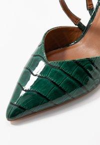 Kurt Geiger London - DELLA SLING - Escarpins - dark green - 2