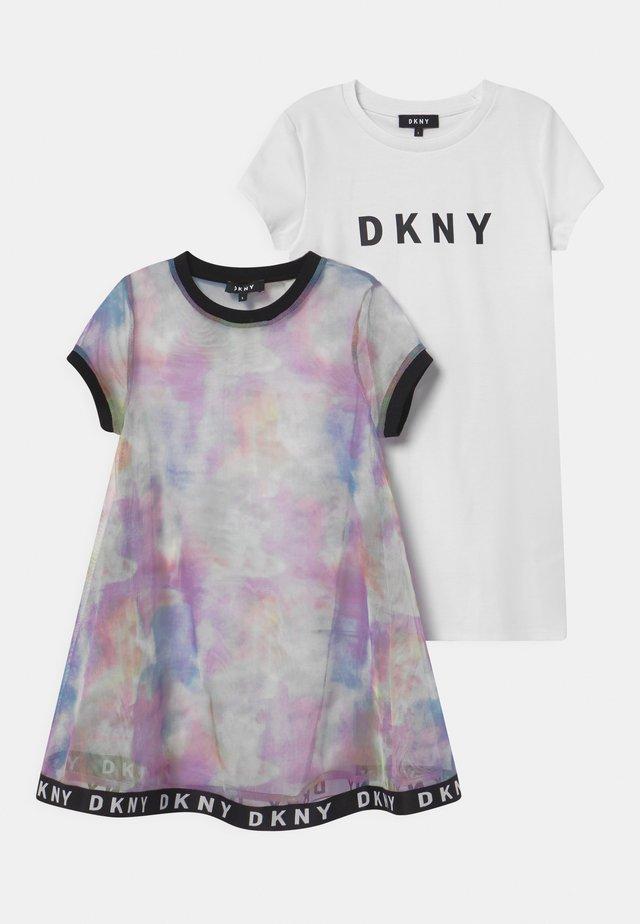 2-IN-1  - Jersey dress - multi-coloured