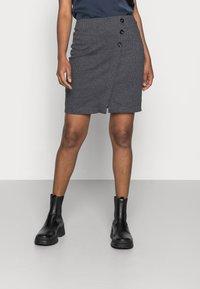 Esprit - JAQUARD SKIRT - Pencil skirt - grey/blue - 0