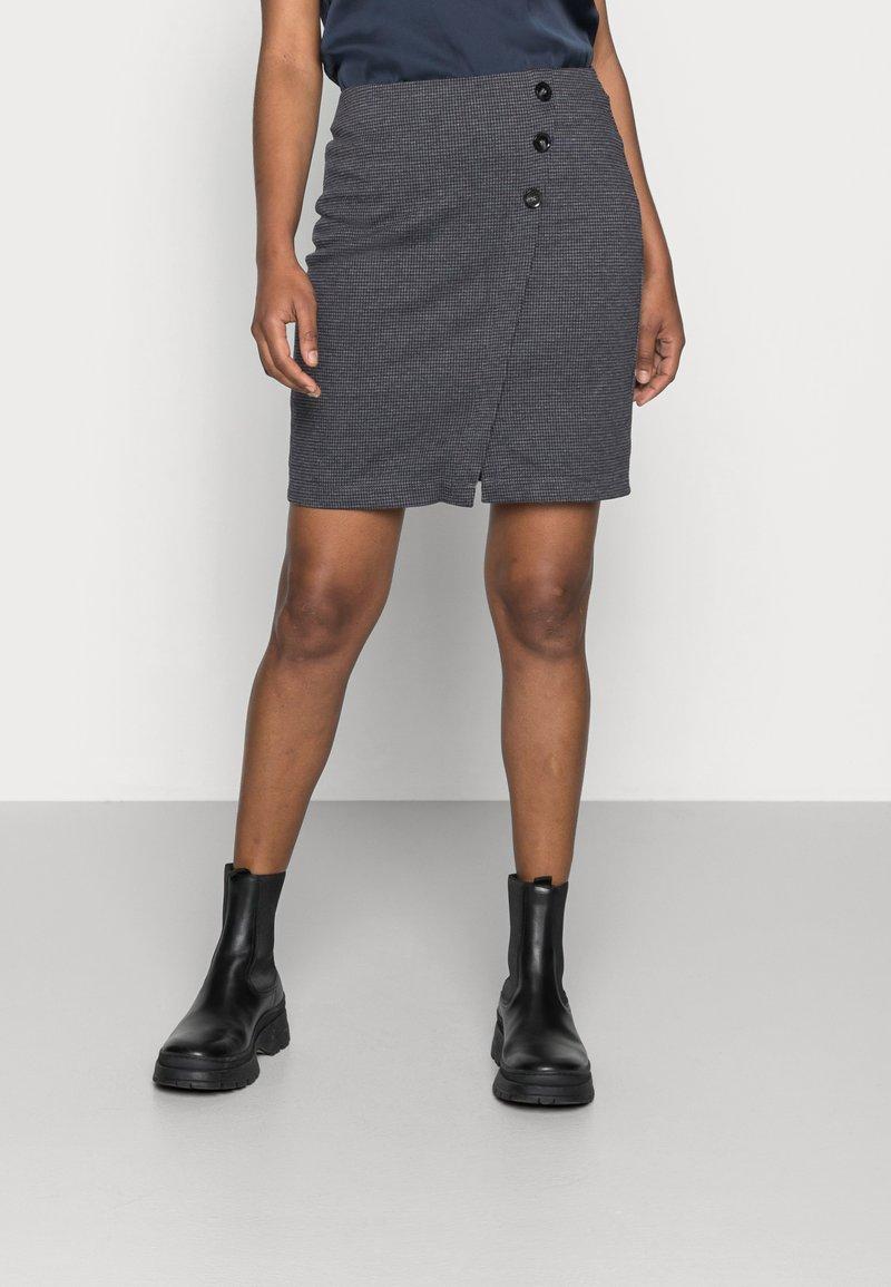 Esprit - JAQUARD SKIRT - Pencil skirt - grey/blue