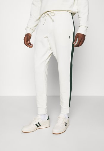 LOOPBACK TERRY PANT ATHLETIC - Verryttelyhousut - chic cream/college green