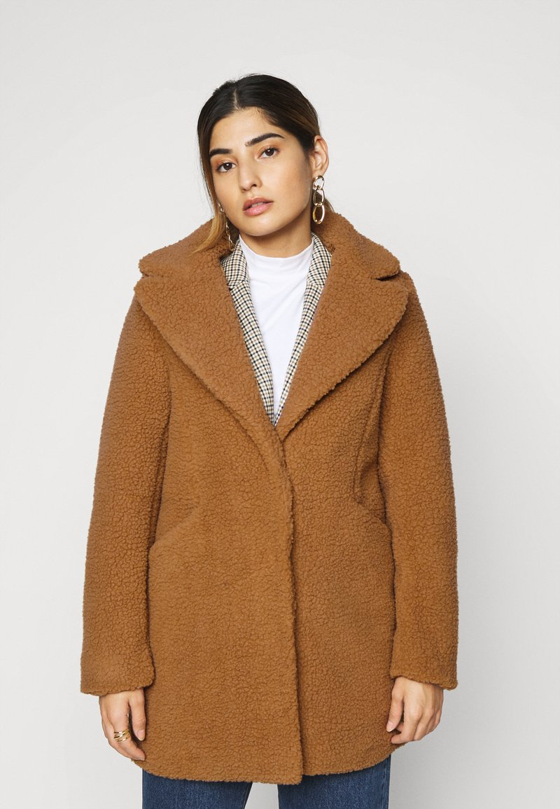 Vero Moda Petite - VMDONNA TEDDY - Zimní bunda - tobacco brown