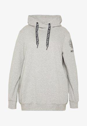 AFLORINA HOODIE - Bluza z kapturem - light grey melange