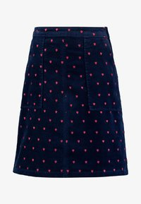 CLOCKTOWER EMBROIDED SKIRT - A-line skirt - navy