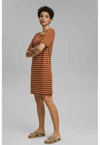 Esprit - FASHION  - Jersey dress - caramel - 1