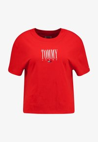 Tommy Jeans - EMBROIDERY GRAPHIC TEE - T-shirt imprimé - flame scarlet - 5