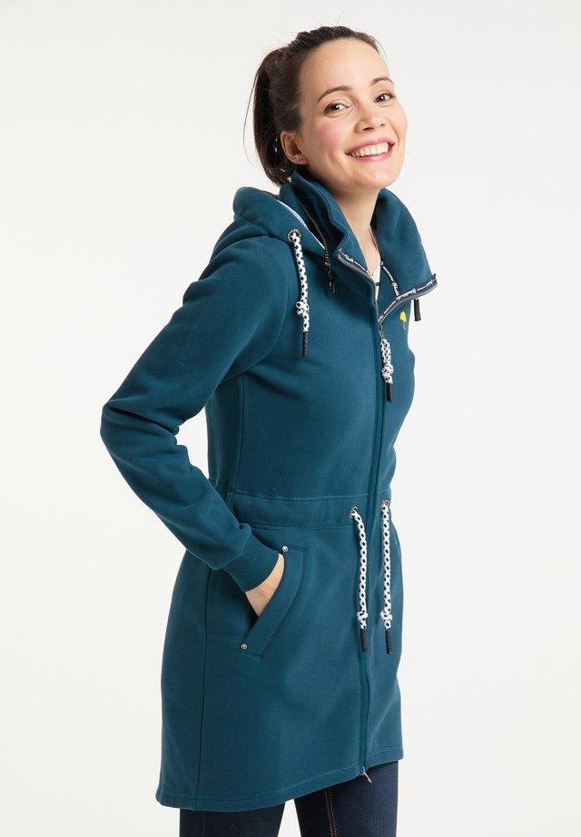 veste en sweat zippée - petrol