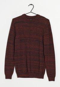 Next - Stickad tröja - dark red - 0