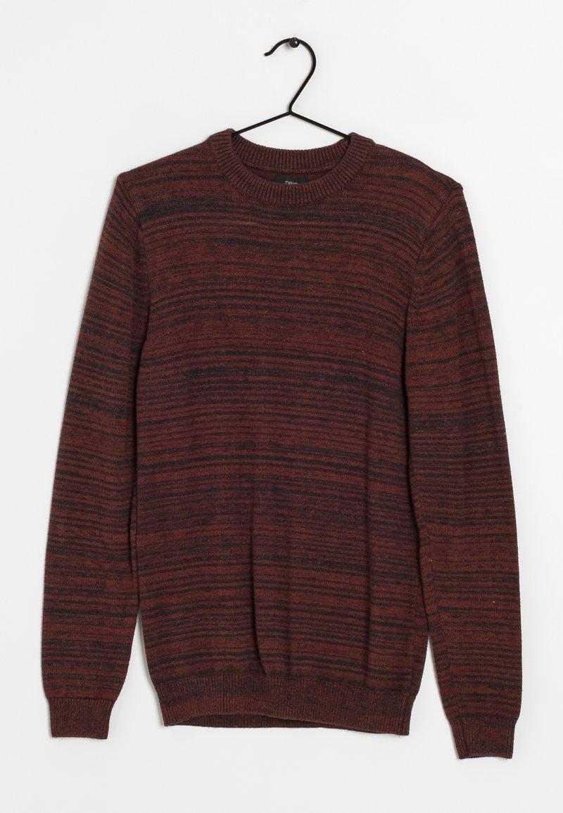 Next - Stickad tröja - dark red