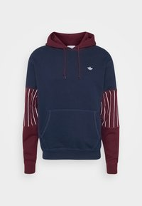 adidas Originals - SUMMER HOODY - Sweat à capuche - conavy/maroon - 4