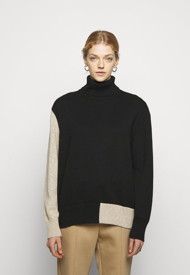 Strickpullover - black/beige