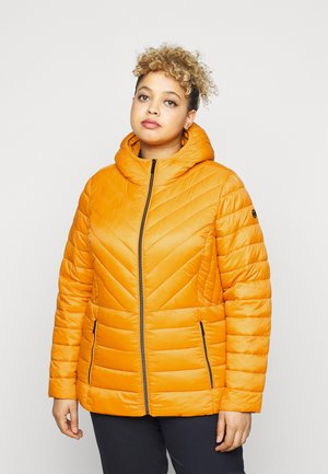 ZIP FRONT PACKABLE WHOOD - Light jacket - marigold