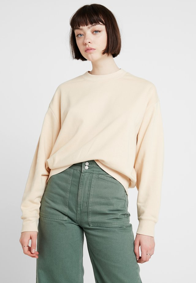 HUGE CROPPED - Mikina - beige