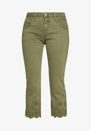 Flared Jeans - burnt olive