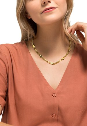 DAMEN-KETTE EDELSTAHL 13 ZIRKONIA - Necklace - gold