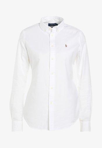 OXFORD SLIM FIT - Button-down blouse - white