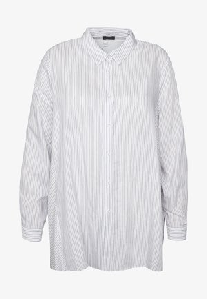 FORTE - Button-down blouse - bianco/blue