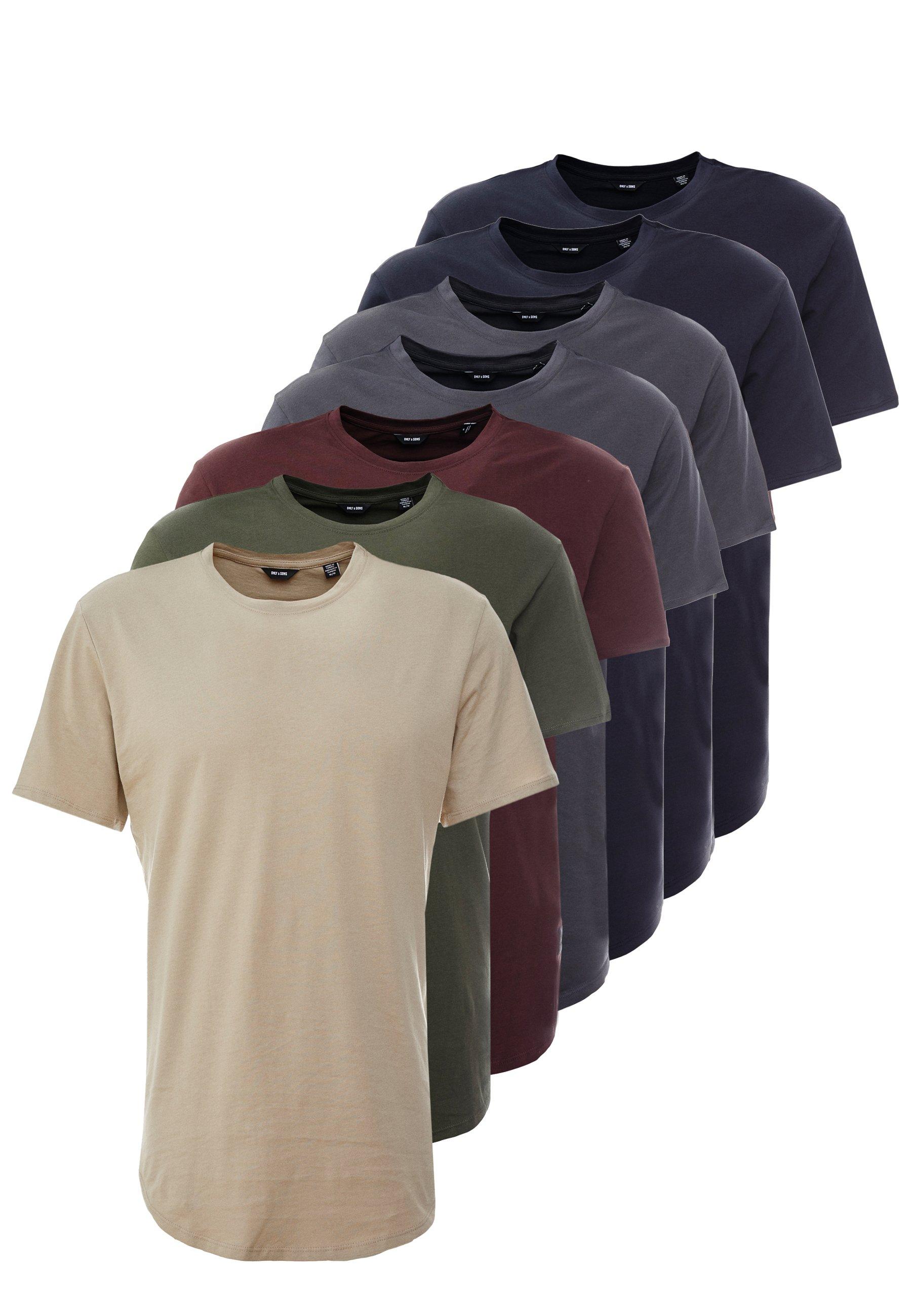 Men ONSMATT LIFE LONGY TEE 7 PACK - Basic T-shirt