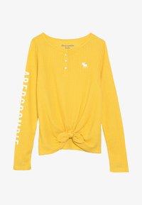 Abercrombie & Fitch - COZY HENLEY  - Trui - yellow - 3