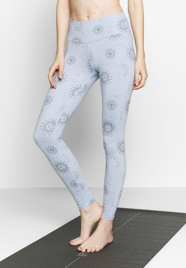 LEGGINGS SUN MOON - Trikoot - light blue