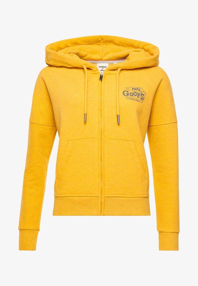 Zip-up hoodie - utah gold