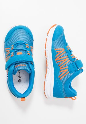 HOLMEN - Hiking shoes - blue/orange