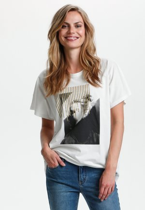Print T-shirt - spring gardenia
