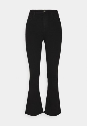 ONLRAIN SWEET - Flared Jeans - black