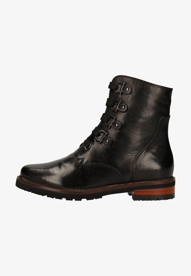 Platform ankle boots - ginger black