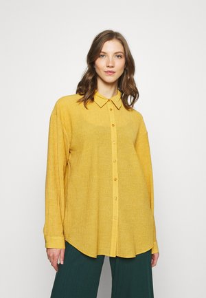 STRUCTURED - Button-down blouse - mustard