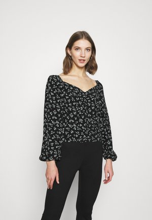 PRINTED BLOUSE - Blouse - black
