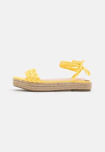 ANASTASIA - Platform sandals - yellow