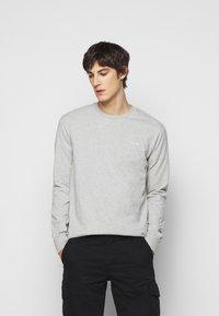 forét - WIND LONGSLEEVE - Long sleeved top - light grey melange - 0