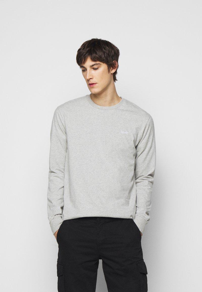 forét - WIND LONGSLEEVE - Long sleeved top - light grey melange