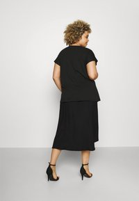CAPSULE by Simply Be - TEXTURED WRAP SKIRT - Pencil skirt - black - 2