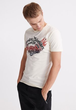 MERCH STORE BAND - Camiseta estampada - riff white
