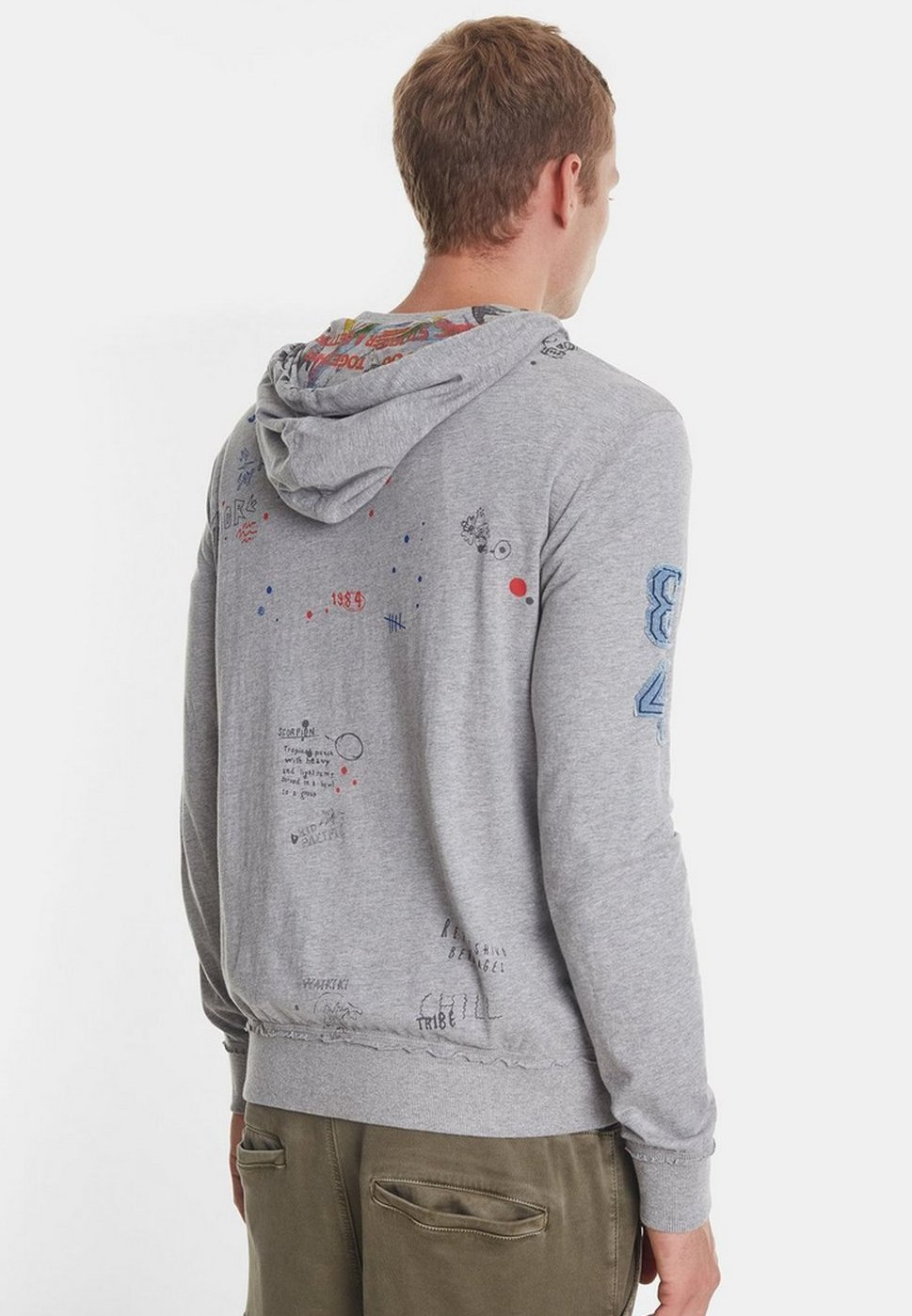 Desigual Sweat à capuche - grey