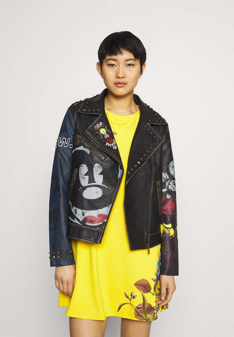 Desigual - CHAQ_COVENT GARDEN MICKEY - Faux leather jacket - black