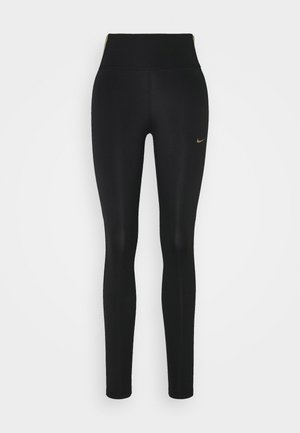 ONE COLORBLOCK - Legging - black/metallic gold