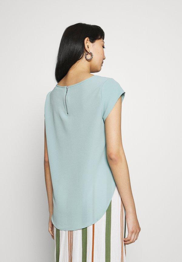 ONLY ONLVIC SOLID - T-shirt z nadrukiem - blue surf/jasnoniebieski GMZI