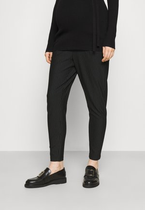 OLMPOPTRASH CLASSIC PINSTRIPE PANT - Bukser - black