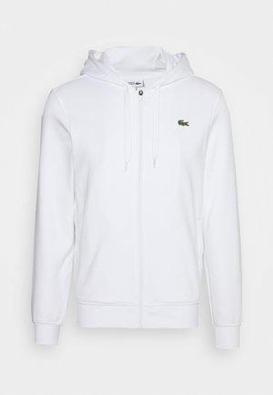 CLASSIC HOODIE JACKET - Zip-up hoodie - white