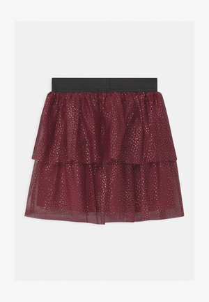 NKFRITTY  - Mini skirt - cabernet