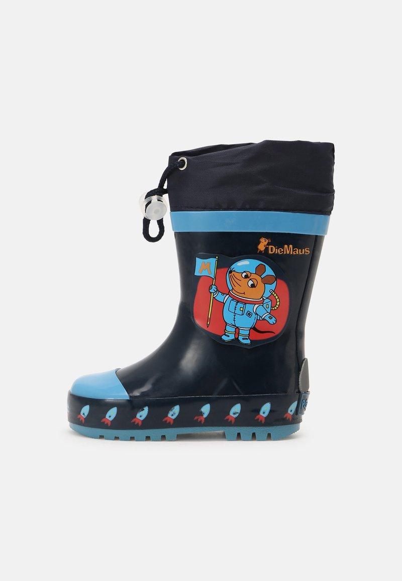 Playshoes - DIE MAUS WELTRAUM - Holínky - marine