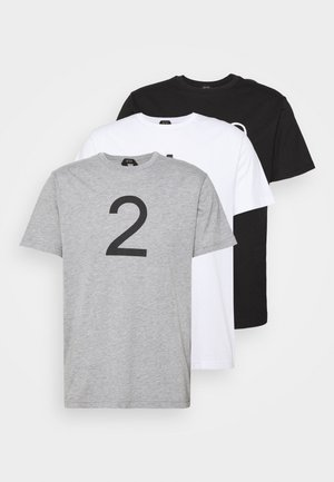 3 PACK - T-shirt z nadrukiem - black