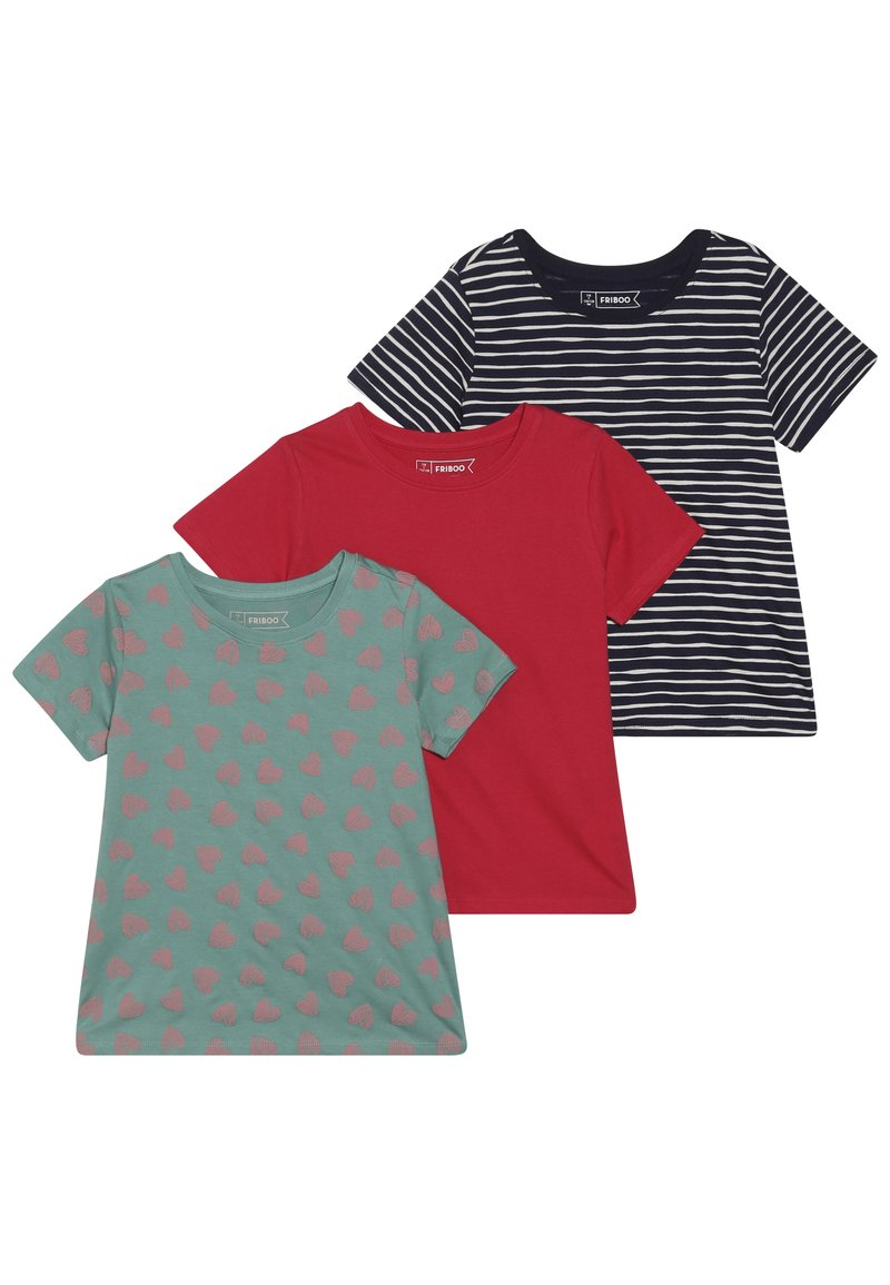 Friboo - 3 PACK  - T-shirt print - rose red