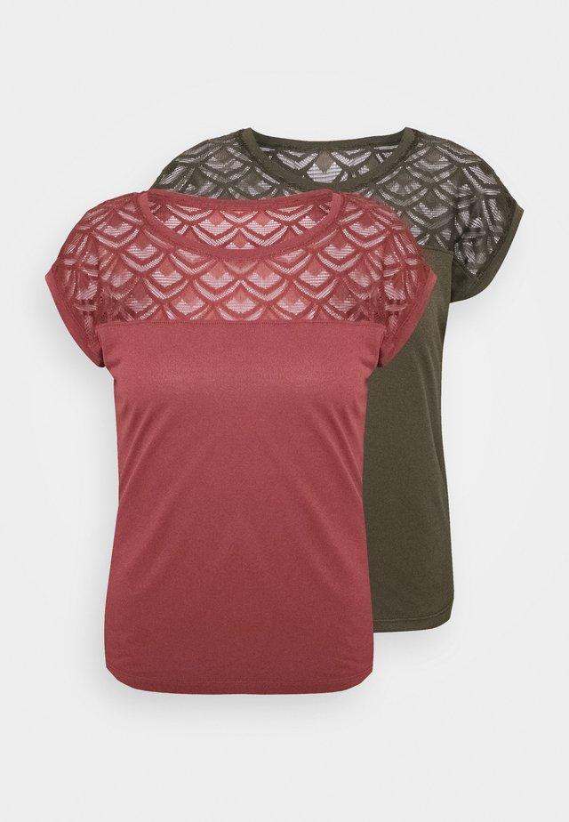ONLNICOLE MIX 2 PACK - T-shirt imprimé - grape leaf/apple butter