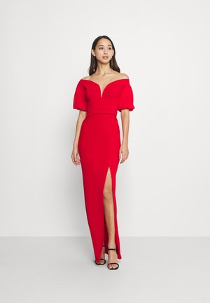 MILENA FLARE SLEEVE MAXI - Occasion wear - red