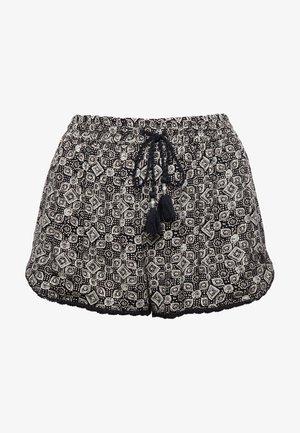 Swimming shorts - black tile aop